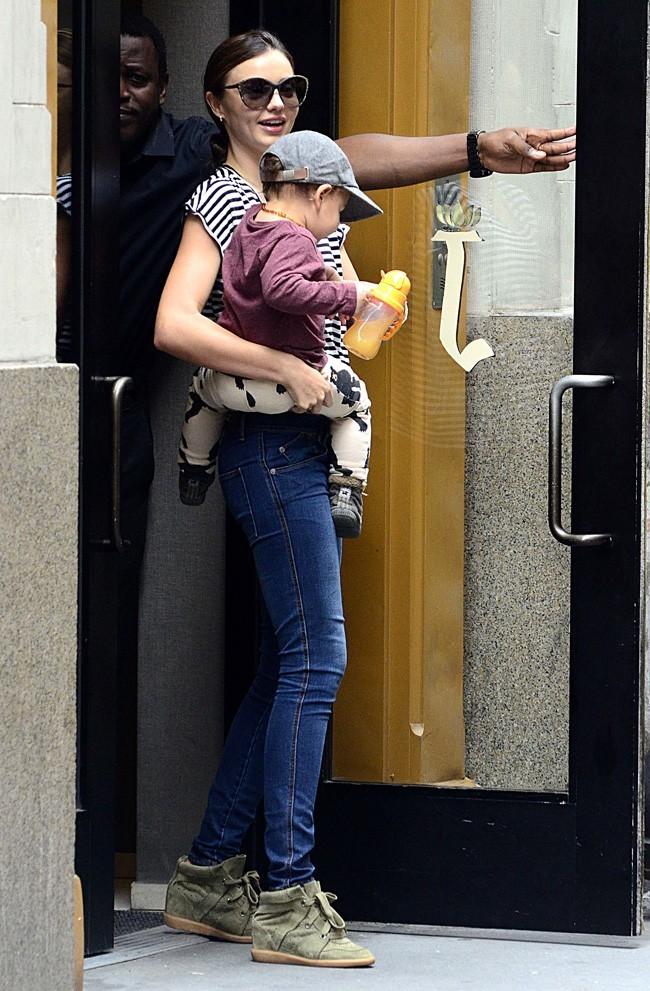 Miranda Kerr et Flynn le 19 juillet 2012 à New York