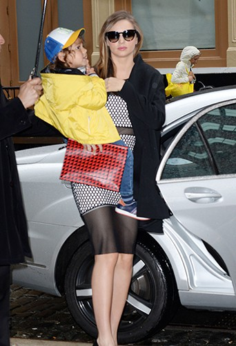 Miranda Kerr et Flynn Bloom à New York le 15 avril 2014