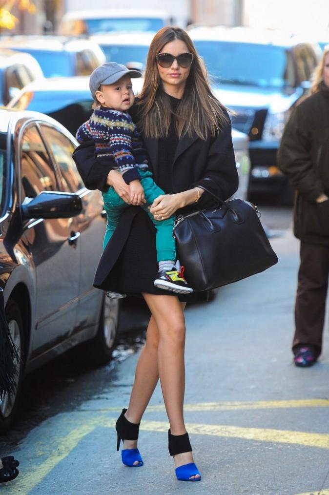 Miranda Kerr et son fils Flynn à New York, le 14 novembre 2012.
