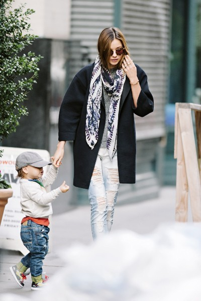 Miranda Kerr et son fils Flynn à New York, le 20 novembre 2012.