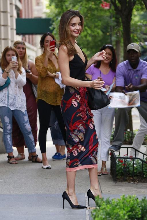 Miranda Kerr à la sortie de son appartement new-yorkais le 17 juillet 2014