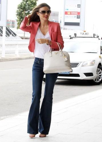 Miranda Kerr à l'aéroport de Sydney, le 19 avril 2013.