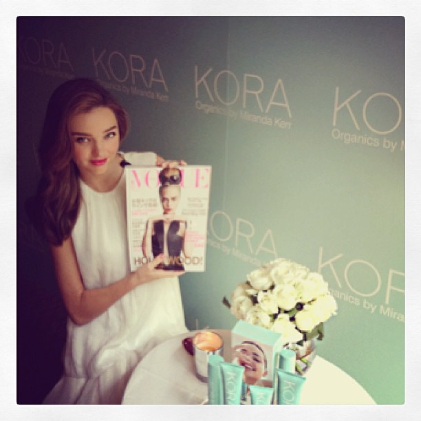 Miranda Kerr en converture du Vogue Japon