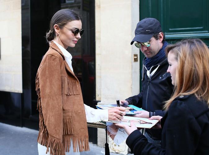 Miranda Kerr à Paris le 28 septembre 2014