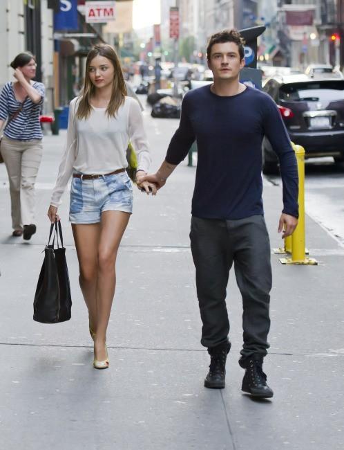 Miranda Kerr et Orlando Bloom à New York, le 25 juin 2012.
