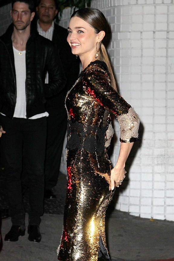 Miranda Kerr à la soirée pre Golden Globes de W Magazine au Château Marmont de Los Angeles le 11 janvier 2013