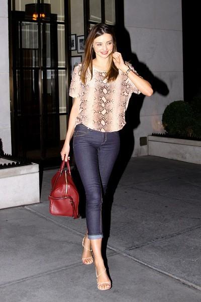 Miranda Kerr à New York, le 17 juillet 2012.