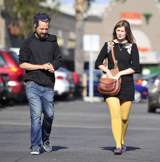 Mischa Barton et son chéri, 26 avril 2013.