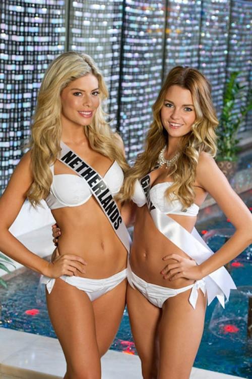 Miss Pays-Bas et Miss Hongrie