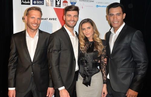 Aurélien Girogino, Mister France 2015 avec ses dauphins et Clara Morgane