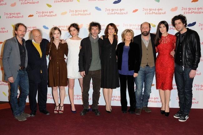 """Le casting du film """"Des gens qui s'embrassent"""" à Paris, le 1er avril 2013."""