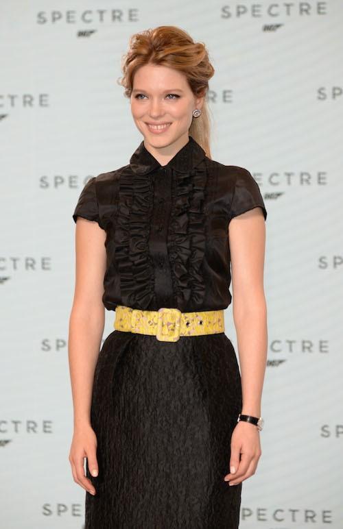 Léa Seydoux lors du photocall de Spectre, le nouveau James Bond, le 4 décembre 2014 !