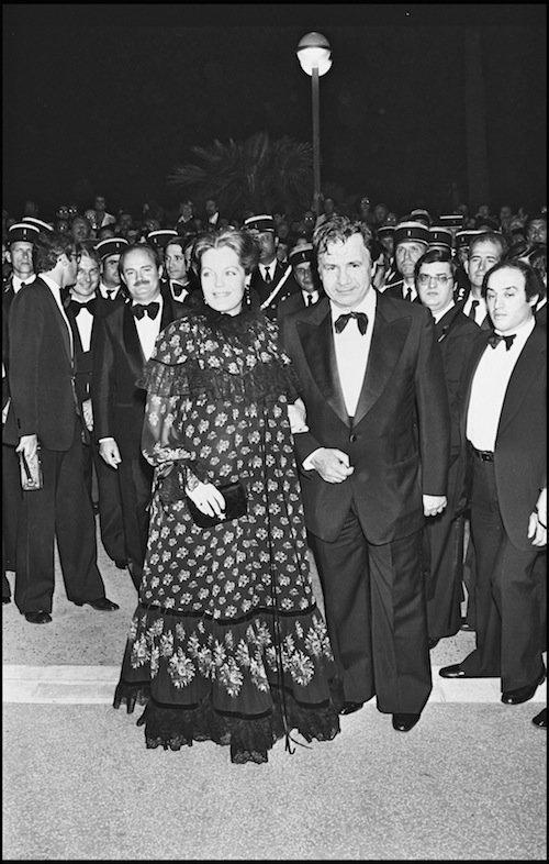 Avec Romy Schneider au Festival de Cannes en 1977