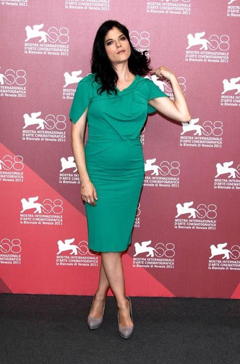 Selma Blair lors de la présentation de son nouveau film, Dark Horse, durant la Mostra de Venise, le 5 septembre 2011.