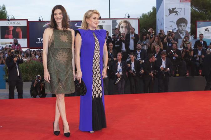 Catherine Deneuve et sa fille Chiara Mastroianni à la Mostra de Venise le 30 août 2014