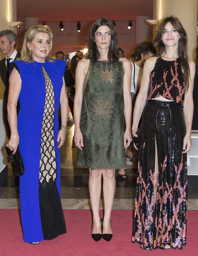 Catherine Denueve, Charlotte Gainsbourg et Chiara Mastroianni à la Mostra de Venise le 30 août 2014