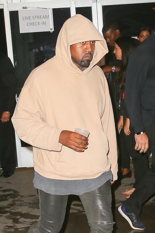 Kanye West après le défilé Alexander Wang à New York, le 12 septembre 2015