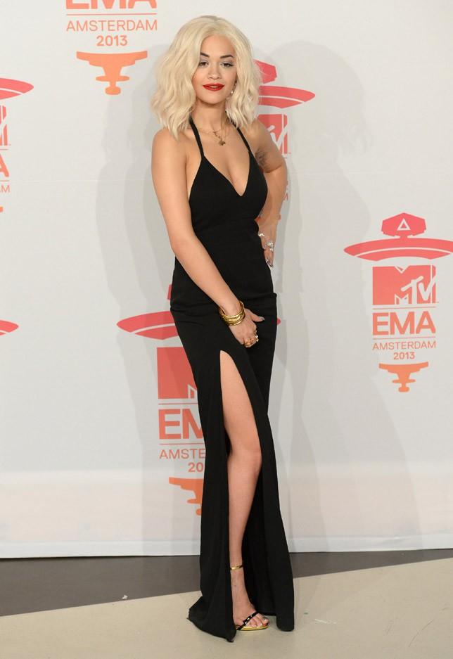 Rita Ora aux MTV European Music Awards, à Amsterdam, le 10 novembre 2013