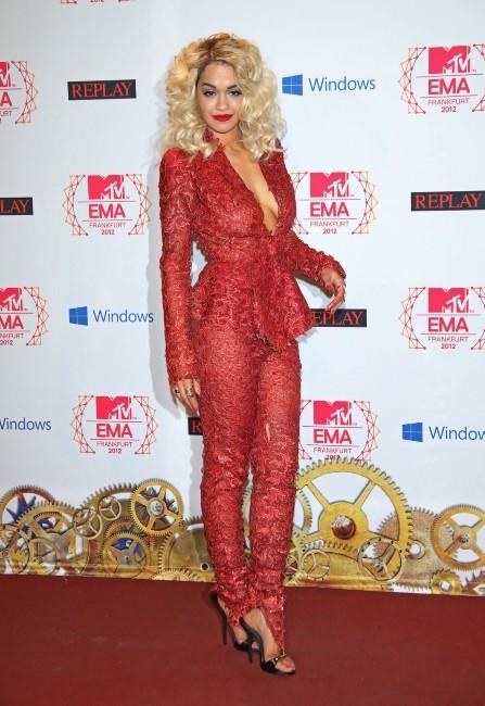Rita Ora lors des MTV EMA's à Francfort, le 11 novembre 2012.