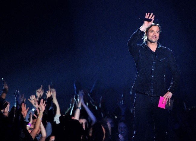Brad Pitt lors des MTV Movie Awards 2013 à Los Angeles, le 14 avril 2013.