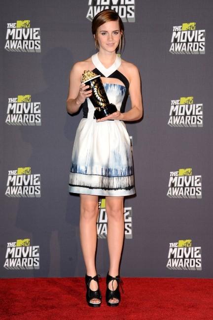 Emma Watson lors des MTV Movie Awards 2013 à Los Angeles, le 14 avril 2013.