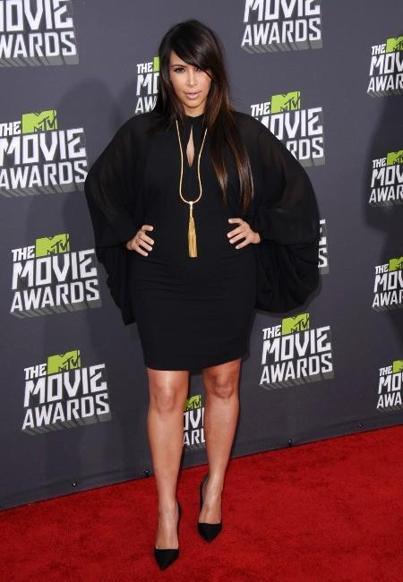 Kim Kardashian lors des MTV Movie Awards 2013 à Los Angeles, le 14 avril 2013.