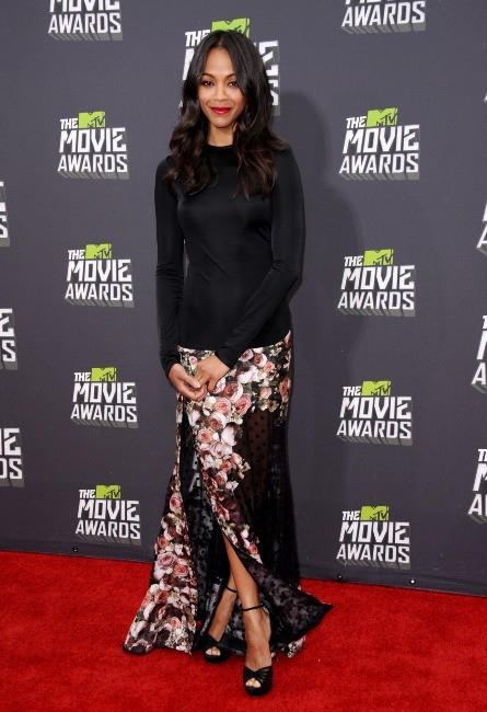 Zoe Saldana lors des MTV Movie Awards 2013 à Los Angeles, le 14 avril 2013.