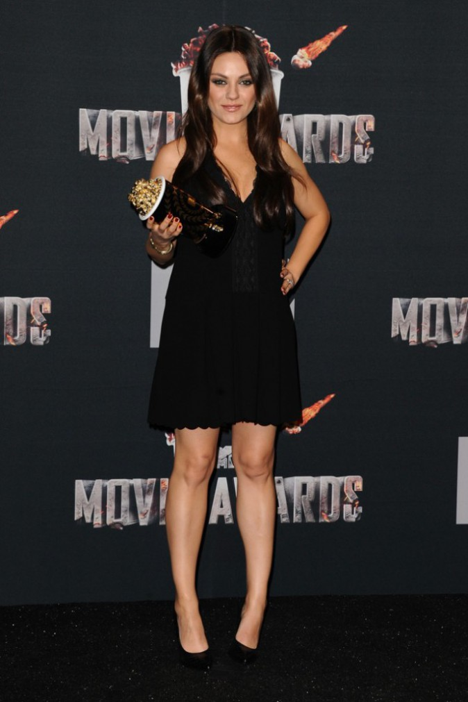 "Photos : MTV Movie Awards : Mila Kunis : une ""meilleure méchante"" radieuse !"
