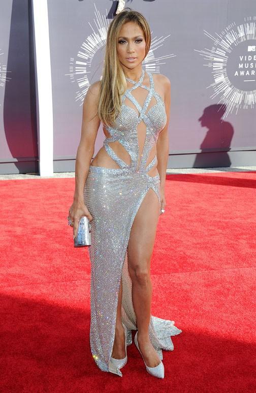 Jennifer Lopez à la cérémonie des MTV Video Music Awards le 24 août 2014