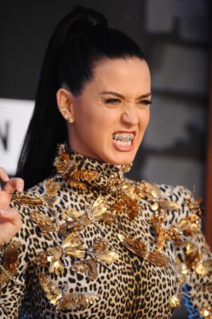 Katy Perry lors de la cérémonie des MTV VMAs à New York, le 25 août 2013.