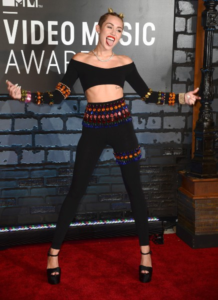 Miley Cyrus lors des MTV VMAs à New York, le 25 août 2013.