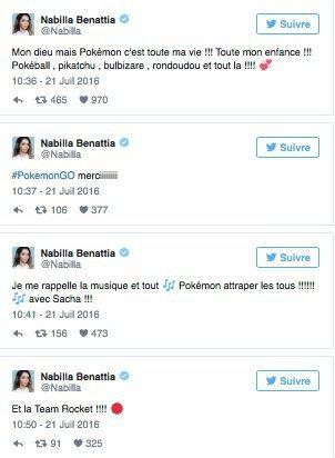 Nabilla Benattia est retombée en enfance avec Pokémon Go