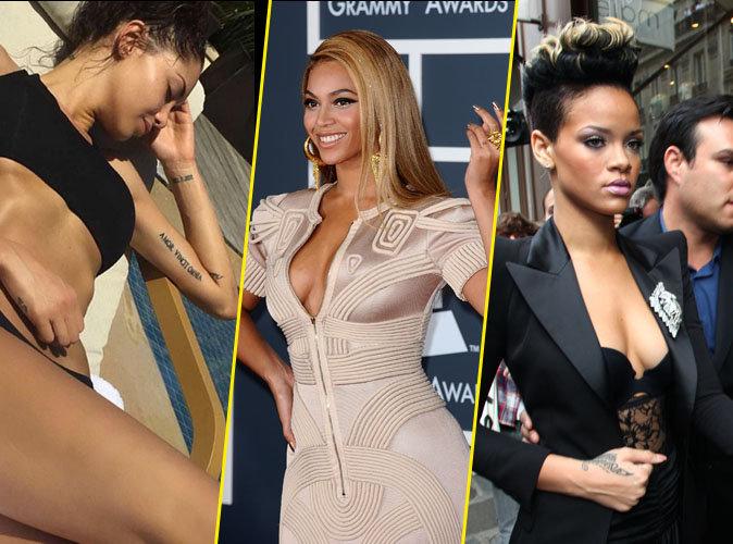 Nabilla, Beyonc�, Rihanna : 35 stars tatou�es par amour !