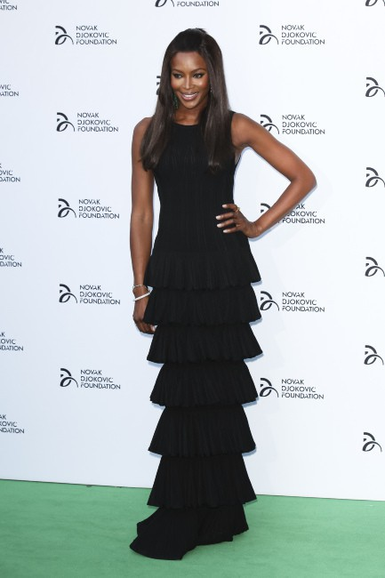Naomi Campbell lors du dîner de gala de la Fondation Novak Djokovic à Londres, le 8 juillet 2013.