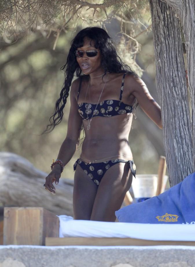 Naomi Campbell à Ibiza le 28 juin 2014