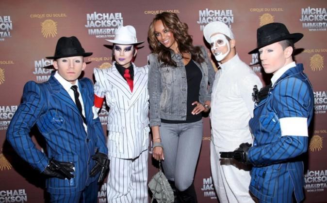 Tyra Banks lors de la première du spectacle du Cirque du Soleil : Michael Jackson The Immortal World Tour à New York, le 3 avril 2012.