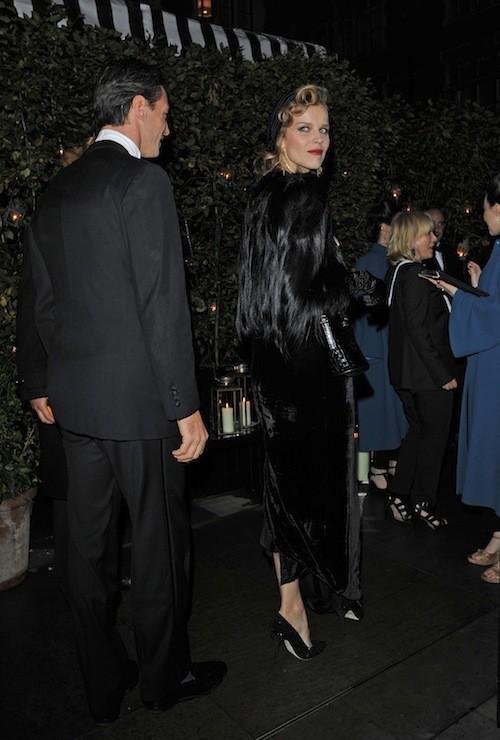Eva Herzigova à l'anniversaire de Mario Testino à Londres, le 29 octobre 2014