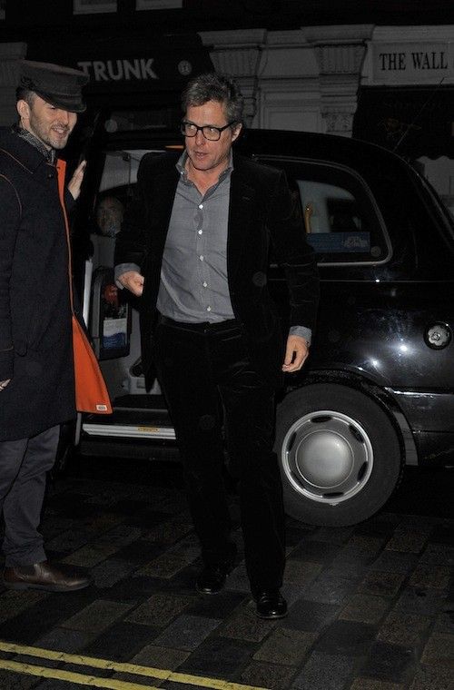 Hugh Grant à l'anniversaire de Mario Testino à Londres, le 29 octobre 2014