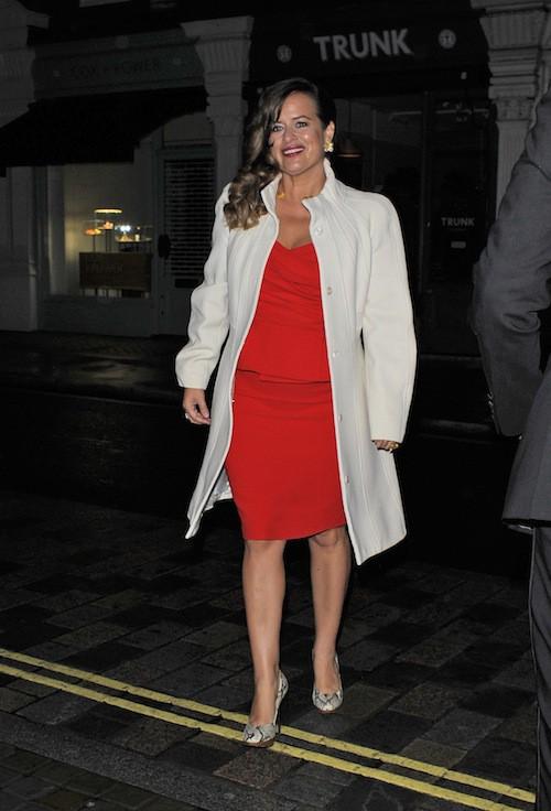 Jade Jagger à l'anniversaire de Mario Testino à Londres, le 29 octobre 2014