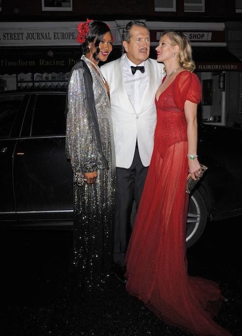 Naomi Campbell et Kate Moss à l'anniversaire de Mario Testino à Londres, le 29 octobre 2014