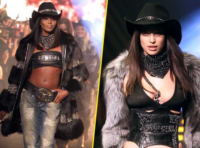 Naomi Campbell : la Panthère n'a pas dit son dernier mot et enflamme la Fashion Week de Milan avec Irina Shayk !