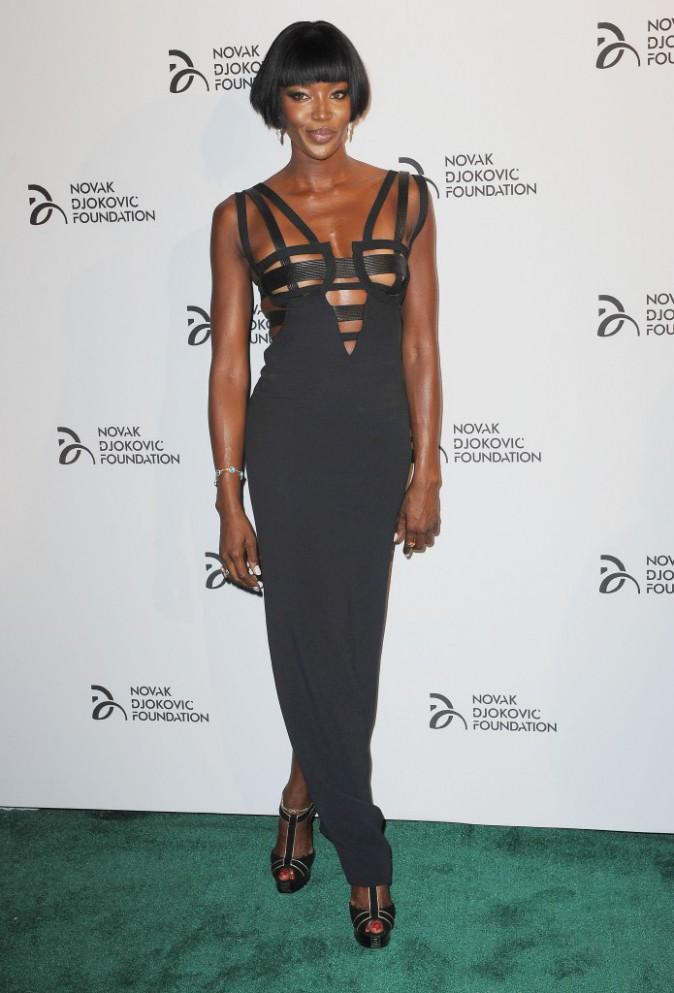 Naomi Campbell lors du dîner de gala de la Fondation Novak Djokovic à New York, le 10 septembre 2013.