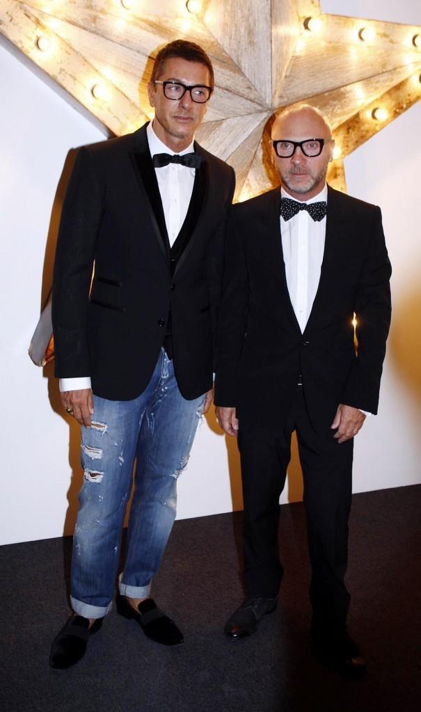Stefano Gabbana et Domenico Dolce lors de la soirée NET-A-PORTER and D&G Party à Londres, le 14 juillet 2011.