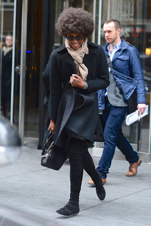 Naomi Campbell à New-York le 3 mars 2014