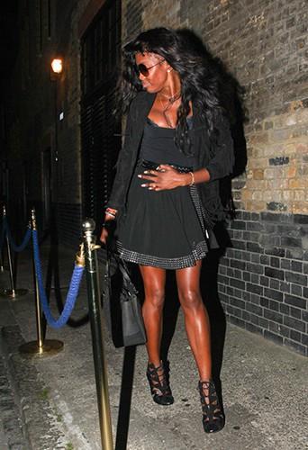 Naomi Campbell à Londres le 3 septembre 2014