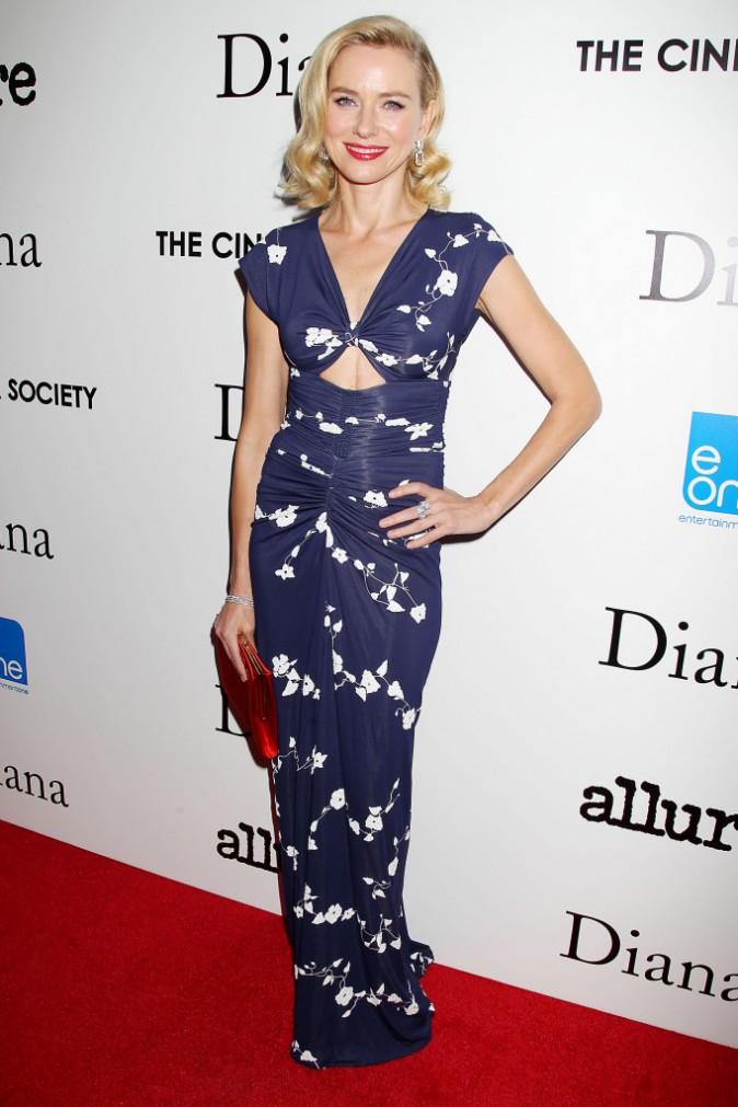"Naomi Watts lors de la première du film ""Diana"" à New York, le 30 octobre 2013."
