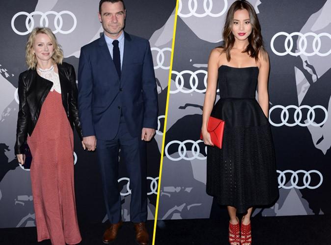 Naomi Watts et Jamie Chung : sublimes en rouge et noir pour les Golden Globes Audi Party !
