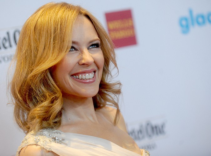 Kylie Minogue à New York le 3 mai 2014