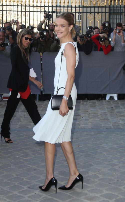 Natalia Vodianova au défilé Christian Dior, le vendredi 26 septembre 2014 à Paris