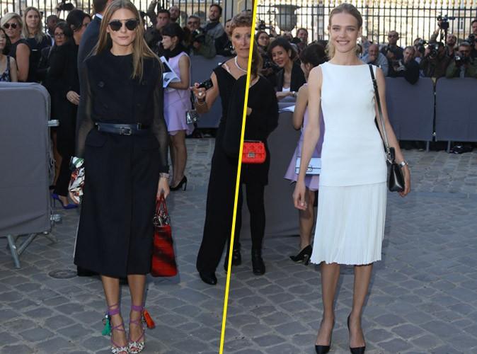 """Photos : Natalia Vodianova et Olivia Palermo : c'est """"all black & white"""" au défilé Dior !"""